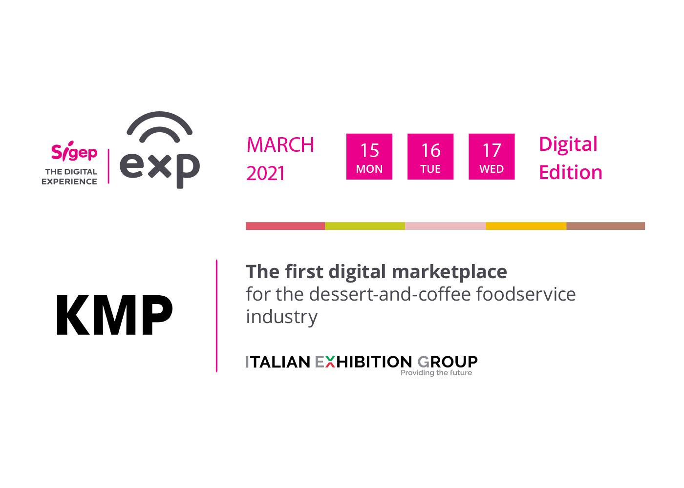 KMP is at Sigep Exp - The Digital Experience (15-17 March 2021)